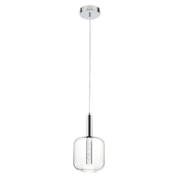 szklana lampa wisząca z małym kloszem