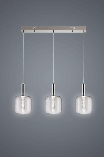 szklana lampa wisząca nowoczesna 3 klosze