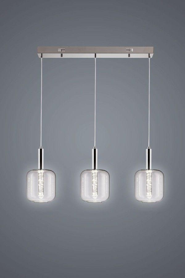 lampy kuchenne 3 szare nowoczesne