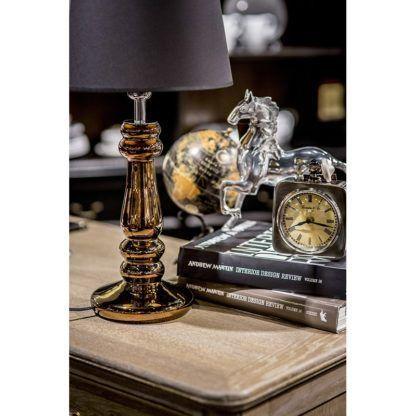 lampa stołowa z abażurem glamour salon