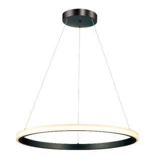 Minimalistyczna lampa wisząca Pluton - LED, czarny okręg