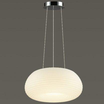 biała owalna lampa wisząca