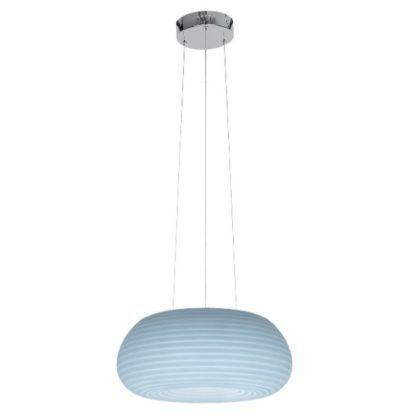 biała lampa wisząca zmienny kolor światła