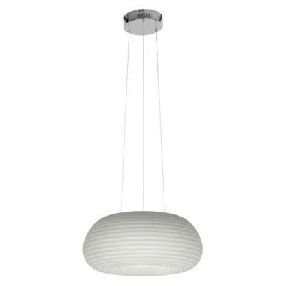 biała lampa wisząca nowoczesna, owal