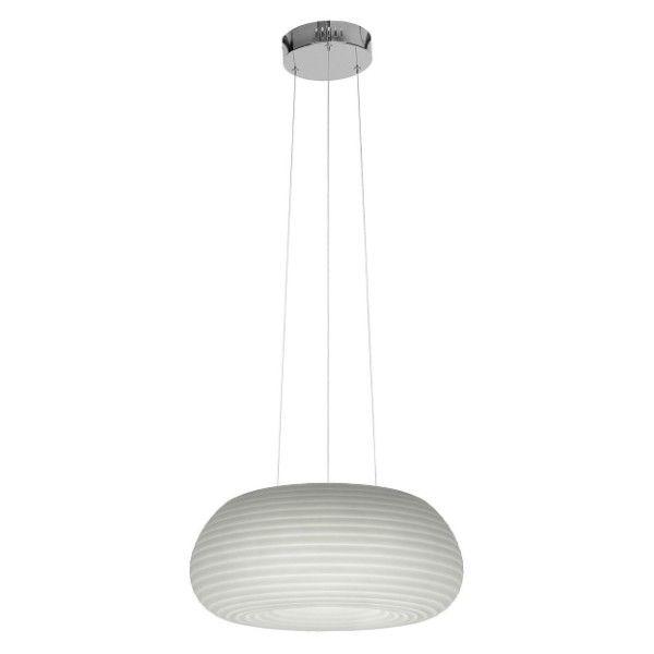 biała, duża, owalna lampa wisząca do jadalni