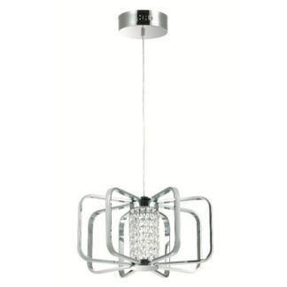 Nowoczesna lampa wisząca Possi - połyskujący klosz, LED
