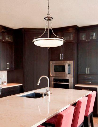 lampa wisząca do kuchni modern classic aranżacja