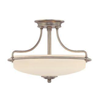Elegancka lampa sufitowa Griffin - mleczny klosz, srebrna oprawa