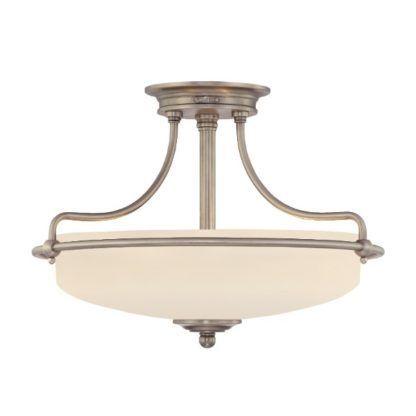 klasyczna lampa sufitowa ze szklanym kloszem