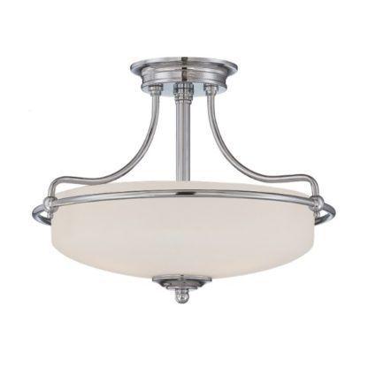 klasyczna lampa sufitowa z dużym kloszem