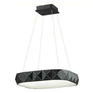 Nowoczesna lampa wisząca Royal - geometryczny klosz, czarna