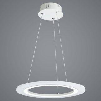Minimalistyczna lampa wisząca Saturn Ring - srebrna, LED