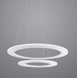 Designerska lampa wisząca Saturn - biały klosz, LED