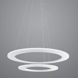 Podwójna lampa wisząca Saturn Ring - biała, LED