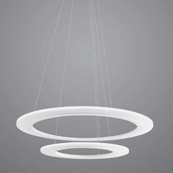 biała lampa wisząca nowoczesna okręgi LED
