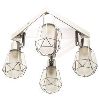 Nowoczesna lampa sufitowa Spirit - 4 klosze z metalowych oprawach