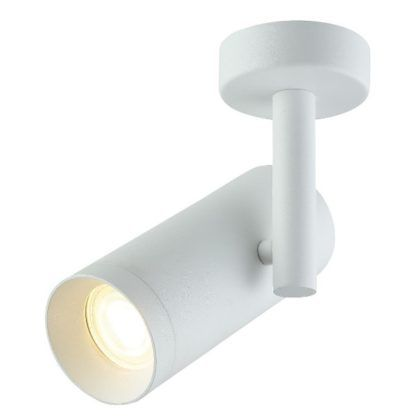 biały reflektor sufitowy z regulacją