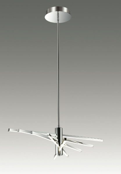 srebrna lampa wisząca, minimalistyczna