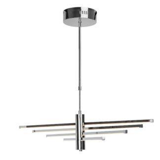 Designerska lampa wisząca Tango - srebrna, LED