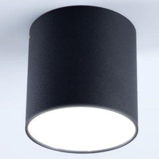 Czarny plafon Tuba Polo - nowoczesna tuba LED