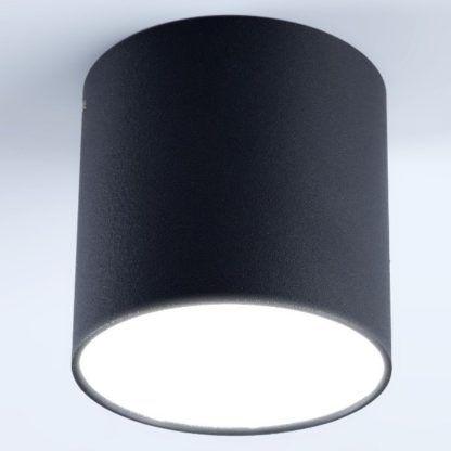 czarna tuba sufitowa nowoczesna
