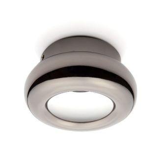 Nowoczesny plafon Tytanio - okrągły, czarny metal