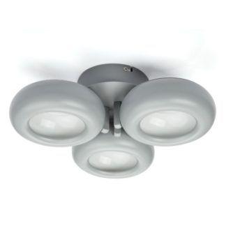 Szara lampa sufitowa Tytanio - trzy okręgi LED, nowoczesny design