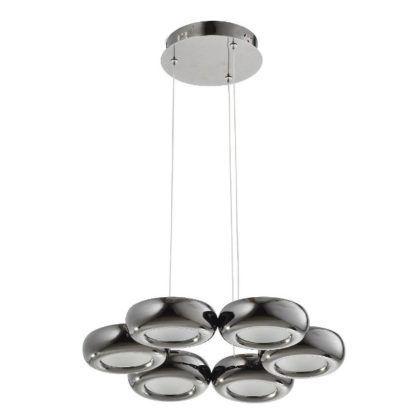 nowoczesna lampa wisząca czarny chrom