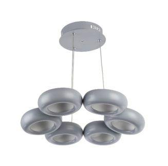 Oryginalna lampa wisząca Titanio - szare okręgi LED