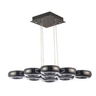 Designerska lampa wisząca Titanio - czerń w połysku, LED