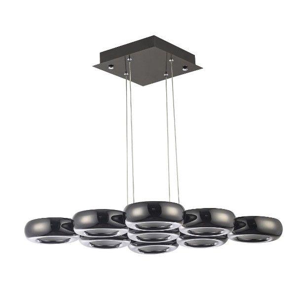 futurystyczna lampa wisząca czarny chrom
