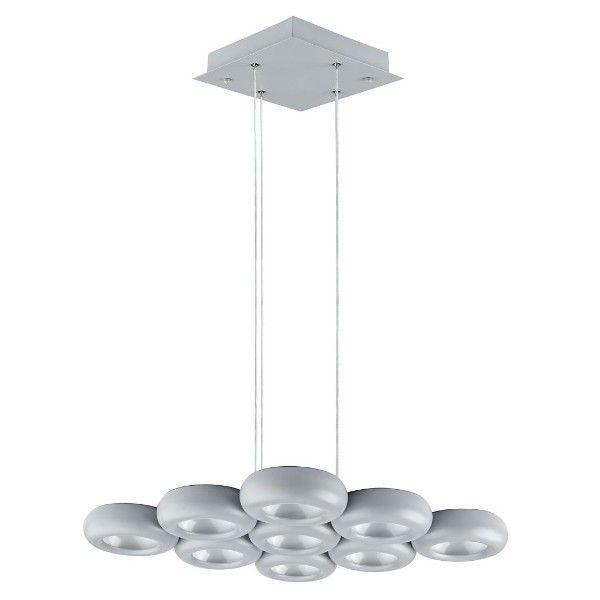 lampa wisząca do salonu do biura szara