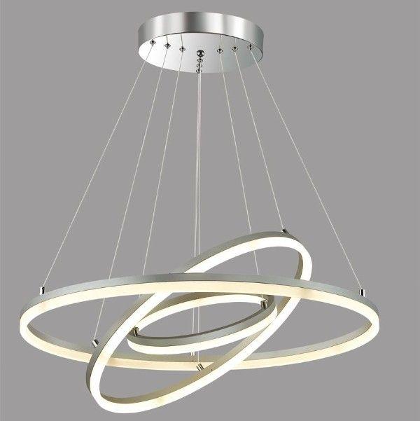 designerska lampa wisząca pierścienie planet LED