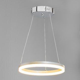 Lampa wisząca Venus - srebrna, LED, nowoczesna