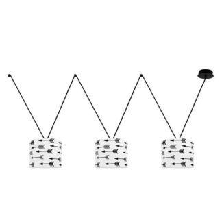 Lampa wisząca Young VVV - biało-czarne abażury, nowoczesna