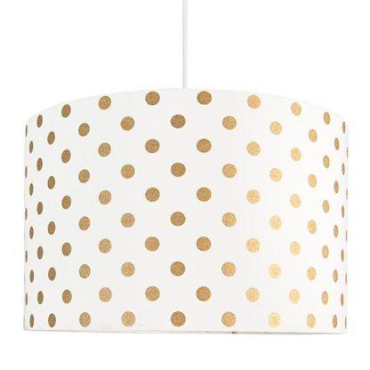 lampa wisząca w złote kropeczki