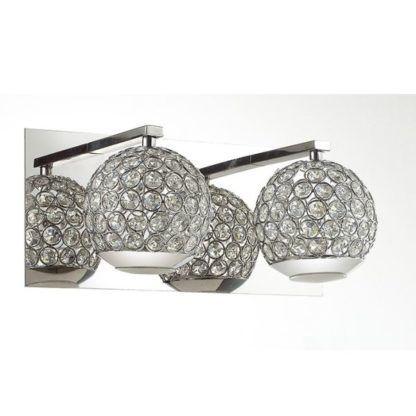 podwójny kinkiet kryształowe kule