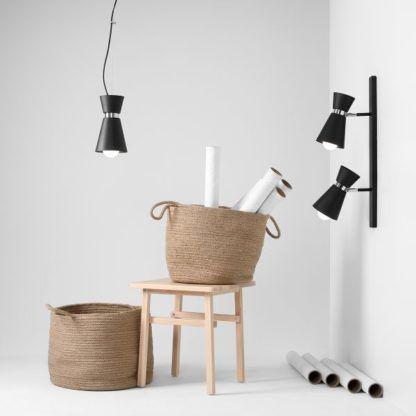 Czarna lampa wisząca Kedar - czarny, stożkowy klosz, nowoczesna