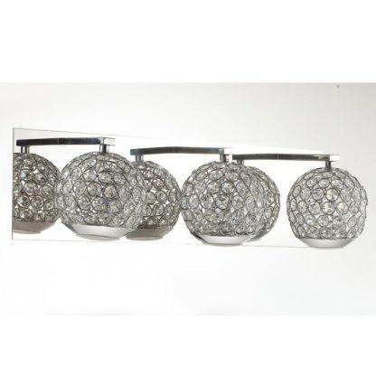 srebrny kinkiet chrom i kryształki
