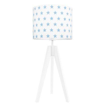 biała lampa stołowa gwiazdki