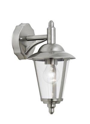 Latarnia ścienna Klien - srebrna, klasyczna, IP44