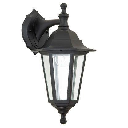 czarny lampion klasyczny zewnętrzny