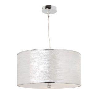 Elegancka lampa wisząca Rebolo - srebrny abażur