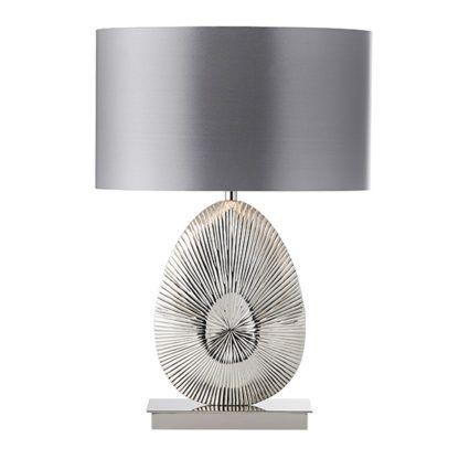 elegancka lampa stołowa z dekoracyjną podstawą
