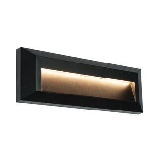 Kinkiet Severus - czarny, LED, IP65