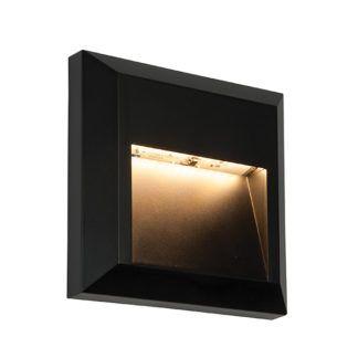 Lampa ścienna Severus - czarna, nowoczesna, IP65