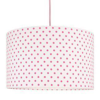 Stylowa lampa wisząca Grochy - biało-różowa
