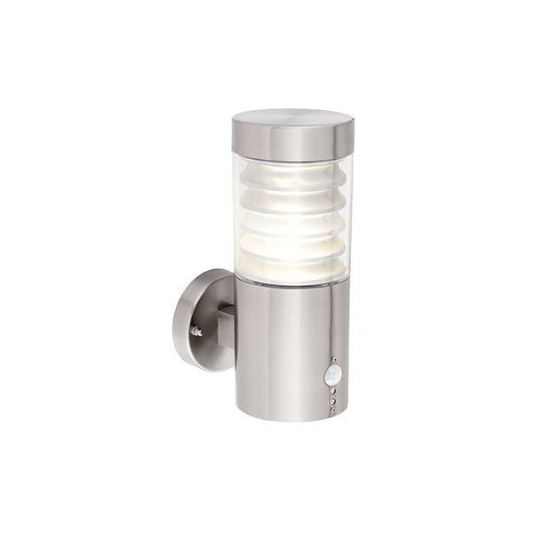Srebrny kinkiet Equinox - LED, czujnik ruchu