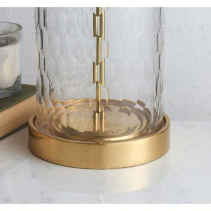szklana lampa stołowa modern classic