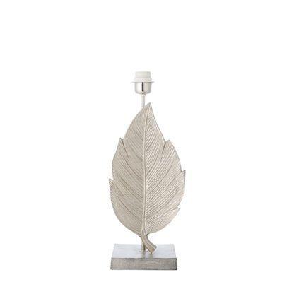 elegancka lampa stołowa liść